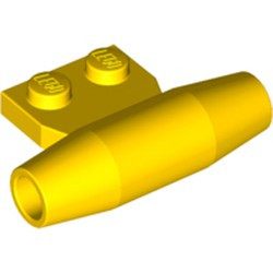 Yellow Engine, Smooth Small, 1 x 2 Side Plate with Axle Holders