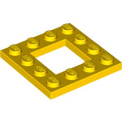 Yellow Plate, Modified 4 x 4 with 2 x 2 Cutout - new