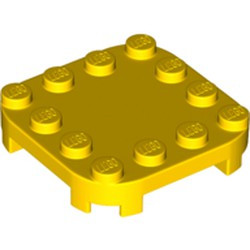 Yellow Plate, Modified 4 x 4 with Rounded Corners and 4 Feet