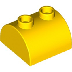 Yellow Slope, Curved 2 x 2 x 1 Double with Two Studs BULK STOCK. NEED MORE? PLEASE CONTACT US!- used
