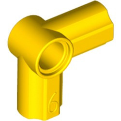 Yellow Technic, Axle and Pin Connector Angled #6 - 90 degrees