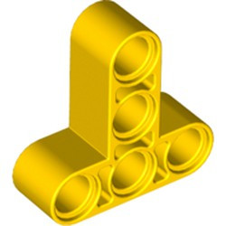 Yellow Technic, Liftarm 3 x 3 T-Shape Thick - new