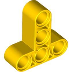 Yellow Technic, Liftarm, Modified T-Shape Thick 3 x 3