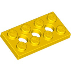 Yellow Technic, Plate 2 x 4 with 3 Holes - used