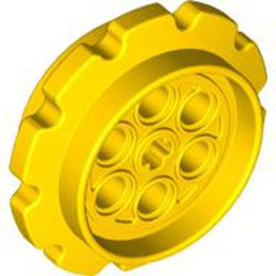 Yellow Technic Tread Sprocket Wheel Large