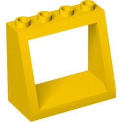 Yellow Windscreen 2 x 4 x 3 Frame - Hollow Studs - used