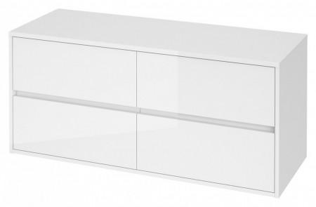 s931-002 alb Dulap suspendat Crea Cersanit pentru lavoar dublu pe blat, 120 cm  Material corpului - Pal laminat
