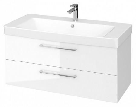 Set B309 dulap suspendat cu lavoar Lara Mille 100 cm, alb S801-330-DSM