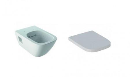 Set vas wc suspendat Selnova Square cu capac soft close