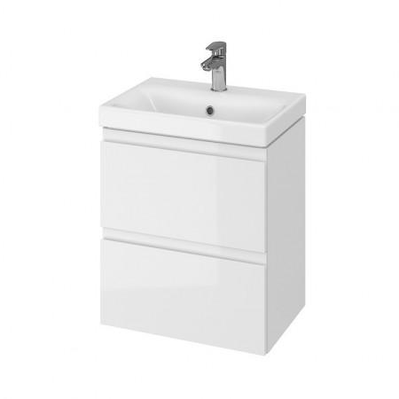 Set mobilier cu lavoar Cersanit Moduo Slim, 50 cm alb DSM  S801-229