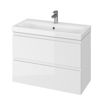 Set mobilier cu lavoar Cersanit Moduo Slim, 80 cm alb DSM  S801-225