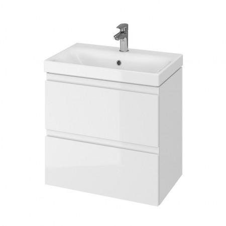 Set mobilier cu lavoar Cersanit Moduo Slim, 60 cm alb DSM  S801-227
