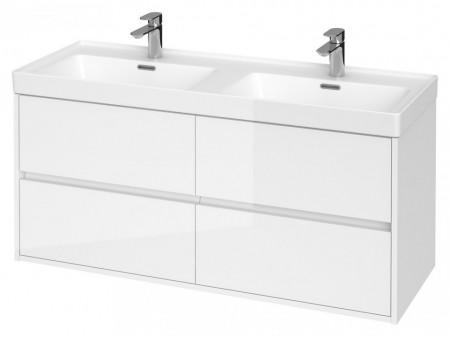 s931-001 alb Dulap suspendat Crea Cersanit pentru lavoar dublu, 120 cm