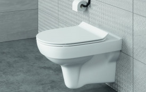 vas wc suspendar city oval cersanit cu capac soft close si demontare rapida