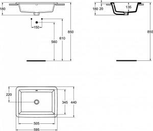 k078001 lavoar strada ideal standard schita tehnica
