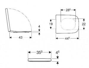 schita tehnica capac wc cu inchidere lenta selnova square geberit
