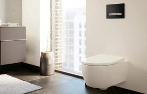 vas wc suspendat icon geberit rimfree rezervor incastrat clapeta sigma50 negru