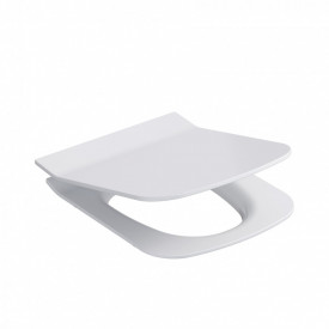 Capac wc Cersanit Metropolitan cu Soft-close si demontare rapida, antibacterial