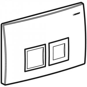 Clapeta de actionare Geberit Delta50 pentru spalare cu doua volume de apa