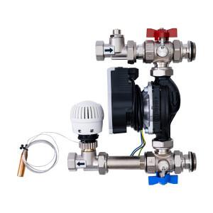 Grup pompare si amestec HEKO cu pompa electronica, cap termostatic, robineti izolare si echilibrare inclusi