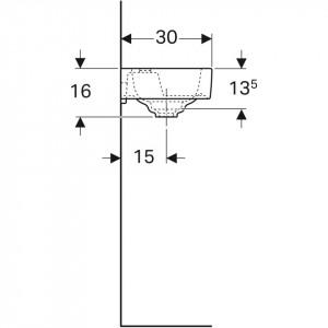Lavoar Geberit Citterio, 45 cm schita tehnica 500.541.01.1