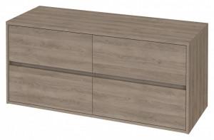 s931-004 stejar Dulap suspendat Crea Cersanit pentru lavoar dublu pe blat, 120 cm  Material corpului - Pal laminat