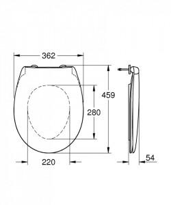 39492000 capac wc grohe bau ceramic cu inchidere normala grohe schita tehnica