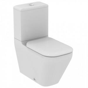 Vas wc stativ pentru combinat Ideal Standard Tonic II AquaBlade, lipit de perete + capac wc
