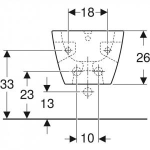 schita tehnica 501.547.01.1 bideu suspendat selnova square geberit 501.547.01.1