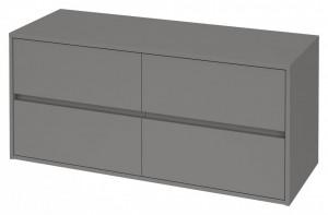 s931-006 gri Dulap suspendat Crea Cersanit pentru lavoar dublu pe blat, 120 cm  Material corpului - Pal laminat