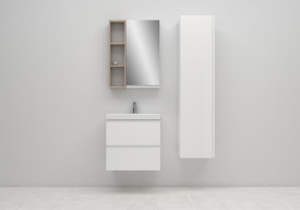 Ambient cersanit moduo alb coloana oglinda
