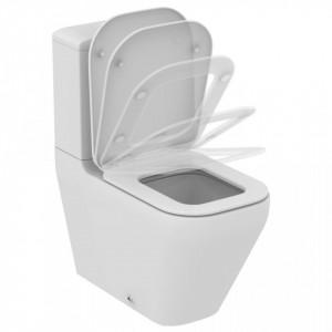 Vas wc stativ pentru combinat Ideal Standard Tonic II AquaBlade, lipit de perete + capac soft- close