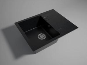 drgm48-58ba chiuveta granit ferro ii mezzo 48 58 cm cu 1 cuva si picurator