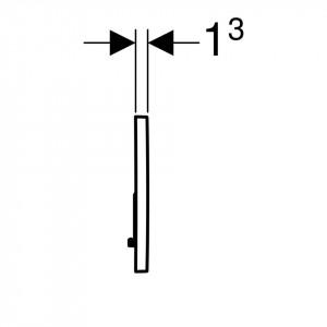 Clapeta de actionare Geberit Sigma01 pentru spalare cu doua volume de apa schita tehnica