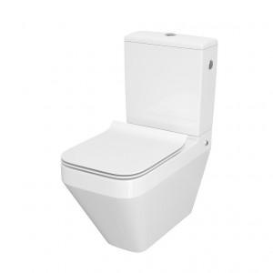 Set wc stativ compact Cersanit Crea rectangular CleanOn cu capac soft close
