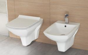 ambient carina cersanit bideu vas wc si capac slim cu inchidere lenta