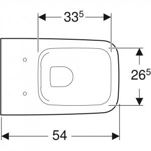 icon square geberit vas wc suspendat rectangular rimfree
