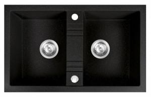 DRGM2/48/78ha ferro mezzo ii grafit stralucitor chiuveta cu 2 cuve