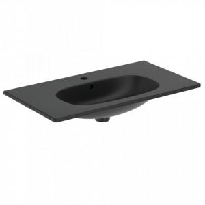 Lavoar pentru mobilier Ideal Standard Tesi, 80 cm, negru mat