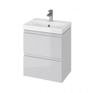 Set mobilier cu lavoar Cersanit Moduo Slim, 50 cm gri DSM  S801-228