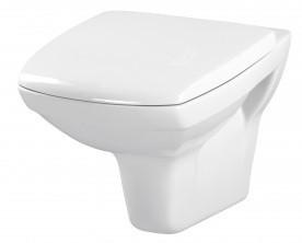 Set wc suspendat Cersanit Carina CleanOn cu capac antibacterian