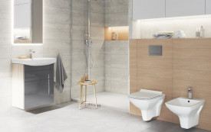 carina cleanon cersanit vas wc suspendat mobilier smart gri