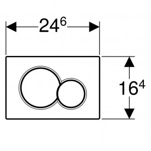 Clapeta de actionare Geberit Sigma01 pentru spalare cu doua volume de apa schita tehnica  1