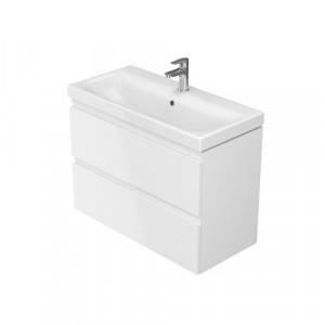 Set mobilier cu lavoar Cersanit Moduo Slim, 80 cm alb DSM  S801-225  2