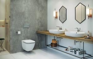 cersanit caspia ambient baie completa vas wc  capac wc lavoare