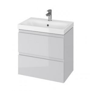 Set mobilier cu lavoar Cersanit Moduo Slim, 60 cm gri DSM  S801-226