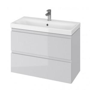 Set mobilier cu lavoar Cersanit Moduo Slim, 80 cm gri DSM  S801-224