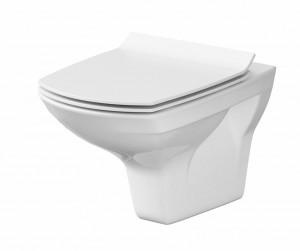 Set wc suspendat Cersanit Carina CleanOn cu capac slim cu Soft-close si demontare rapida