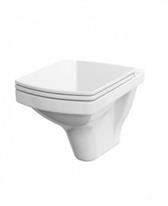 Set wc suspendat Cersanit Easy CleanOn cu capac slim cu Soft-close si demontare rapida