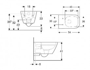 schita tehnica cu dimensiuni vas wc suspendat rimfree selnova square geberit